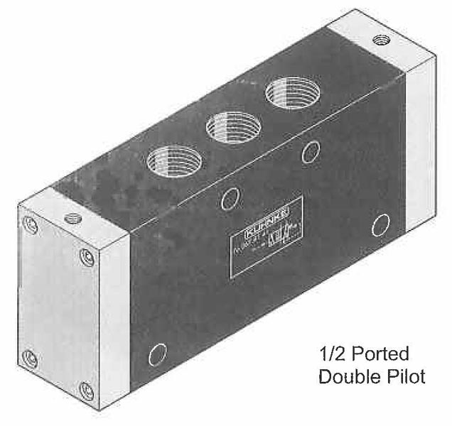 Directional Control Valves, (4 Way), Pneumatic Actuation (Poppet Design, In Line Mounting)