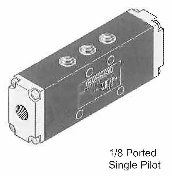 Directional Control Valves, (4 Way), Pneumatic Actuation (Spool Design, In Line Mounting)