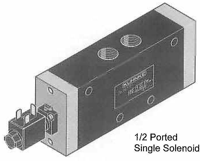 Directional Control Valves (4 Way), Solenoid Operated (Poppet Design, In Line Mounting)