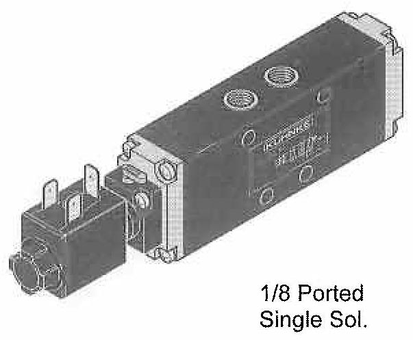 Directional Control Valves (4 Way) Solenoid Operated (Spool Design, In Line Mounting)