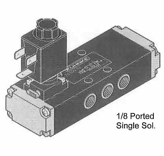 Directional Control Valves (4 Way), Solenoid Operated (Spool Design, Flat Mounting)