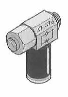 Push-In Fittings with One Way Adjustable Flow Controls